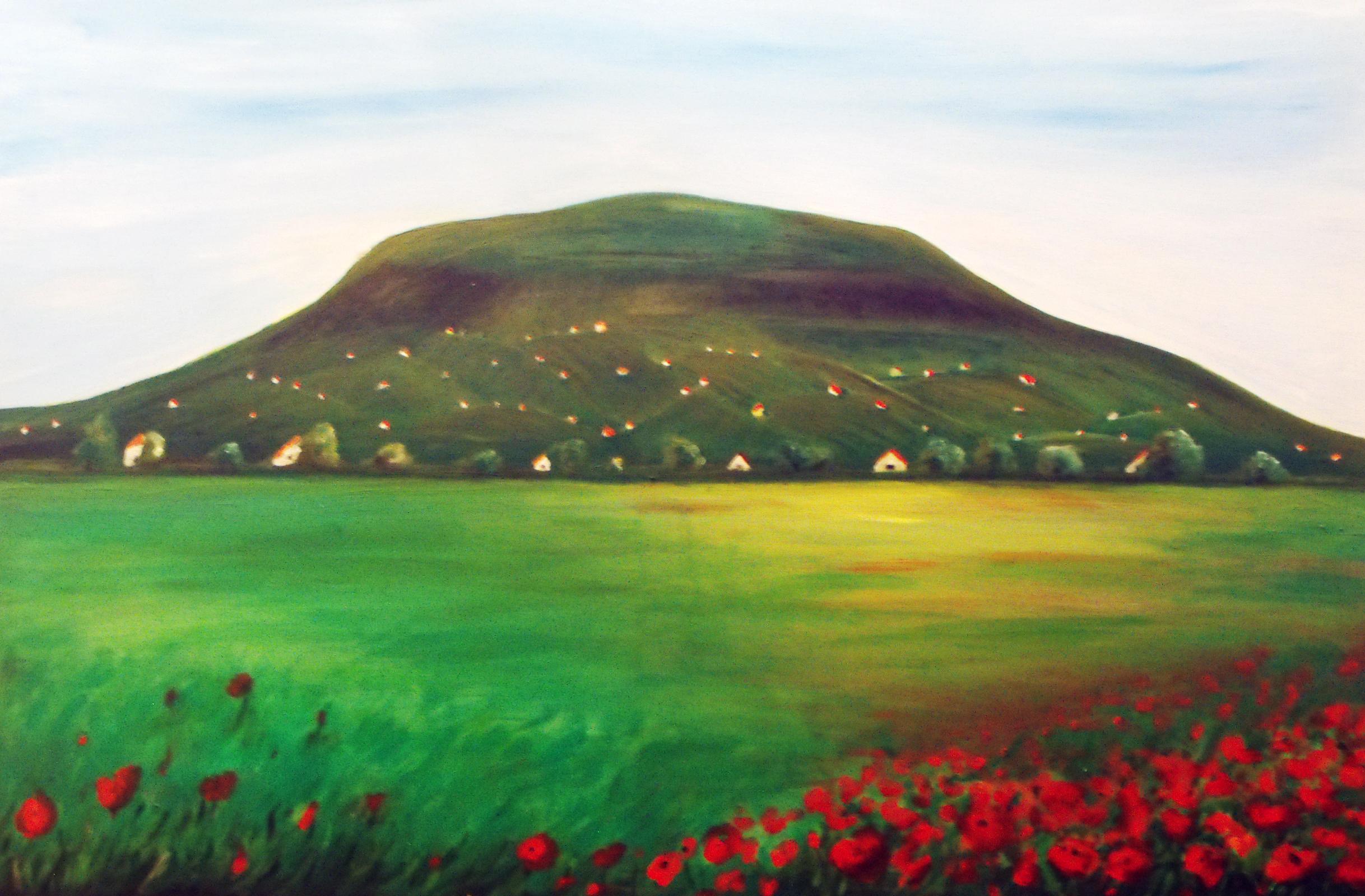 Somó-hegy 90 x 70 cm, akril vásznon, 2014